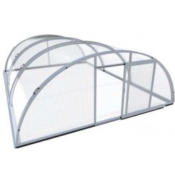 Pool shelter in Aluminum and Polycarbonate 394 x 854 x 140