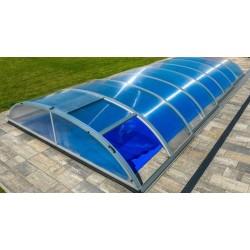 Refugio de piscina en Aluminio y Policarbonato 390 x 642 x 75