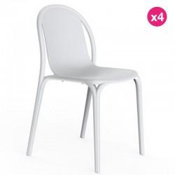 Lot de 4 chaises Vondom Brooklyn blanc