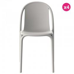 Lot de 4 chaises Vondom Brooklyn écru