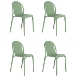 Lot de 4 chaises Vondom Brooklyn pickle