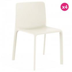 Lot de 4 chaises Vondom Kes blanc
