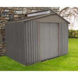 Garden shed metal gray aged wood 5.44m²
