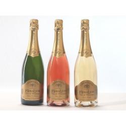 Champagner-HeraLion-Mix-Auswahl gold Glanz, Rosa und Vintage - 3 Btles Wunsch