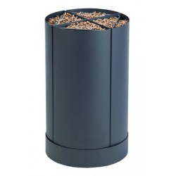 Storage pellet wood Fractio grey sand design nineteen