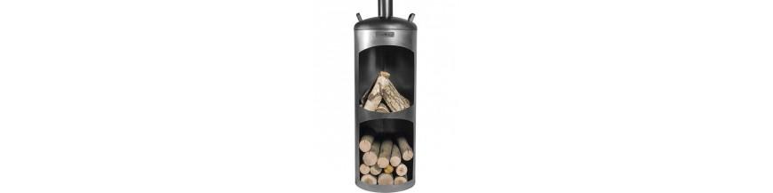 Outdoor wood chimneys